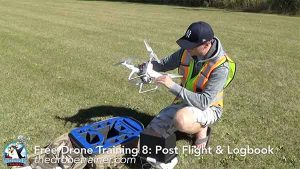 Free Drone Training Course - 8: Post Flight & Logbook