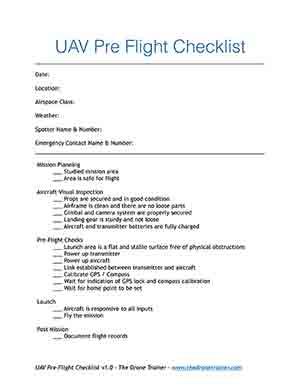 Free drone pre-flight checklist