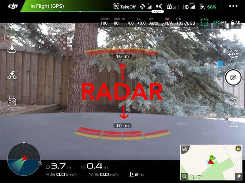 Drone radar markings
