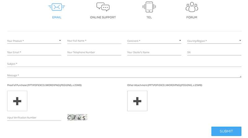DJI Support Form